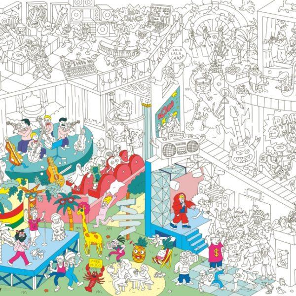 Poster géant à colorier Music