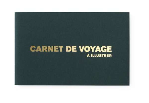 Carnet de voyage vert